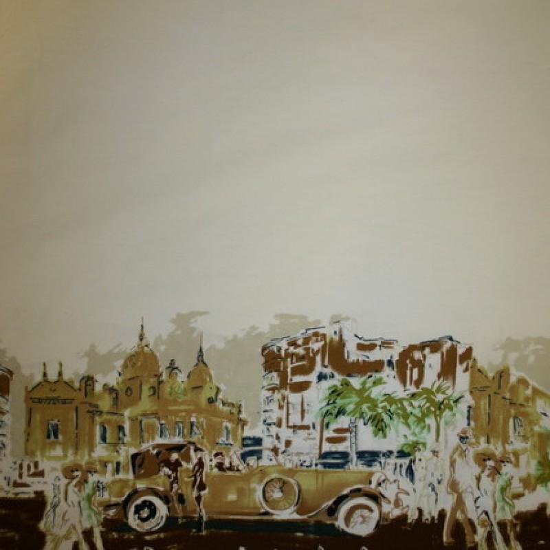 Bomuld m/bort bil/huse off-white/brun-35
