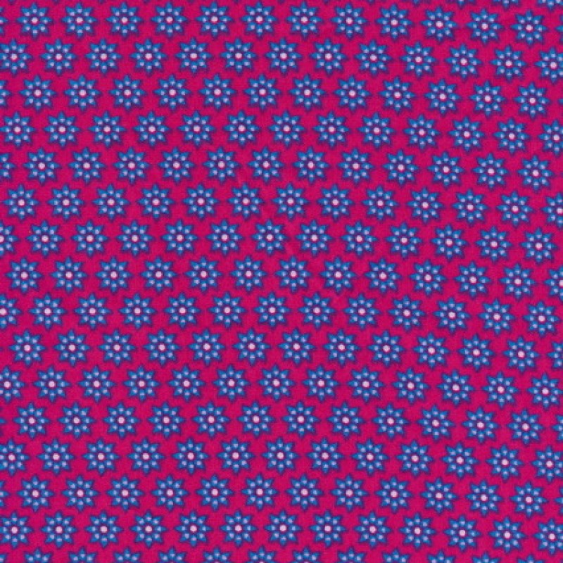 Rest Bomuld m/blomster, pink/turkis/lyserød, 43 cm.