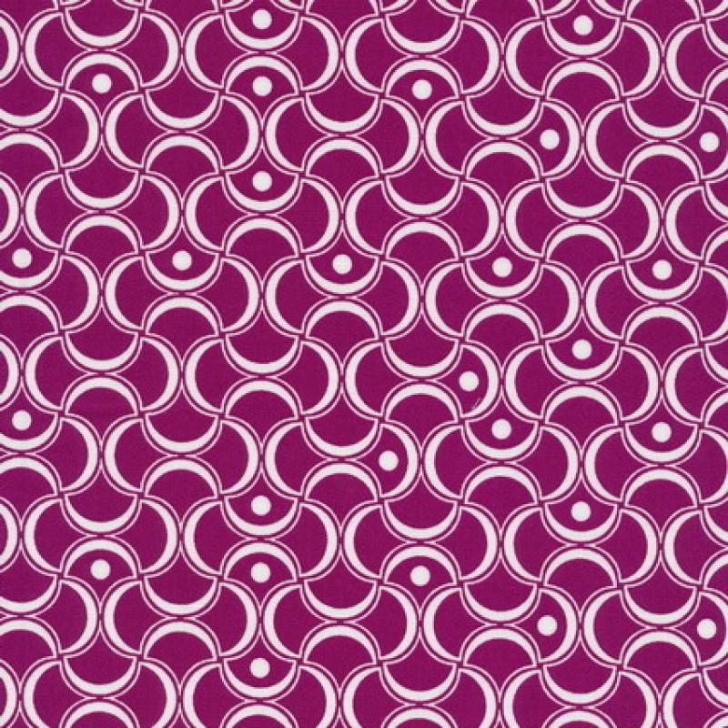 Bomuld mønstret cerisse/hvid-33