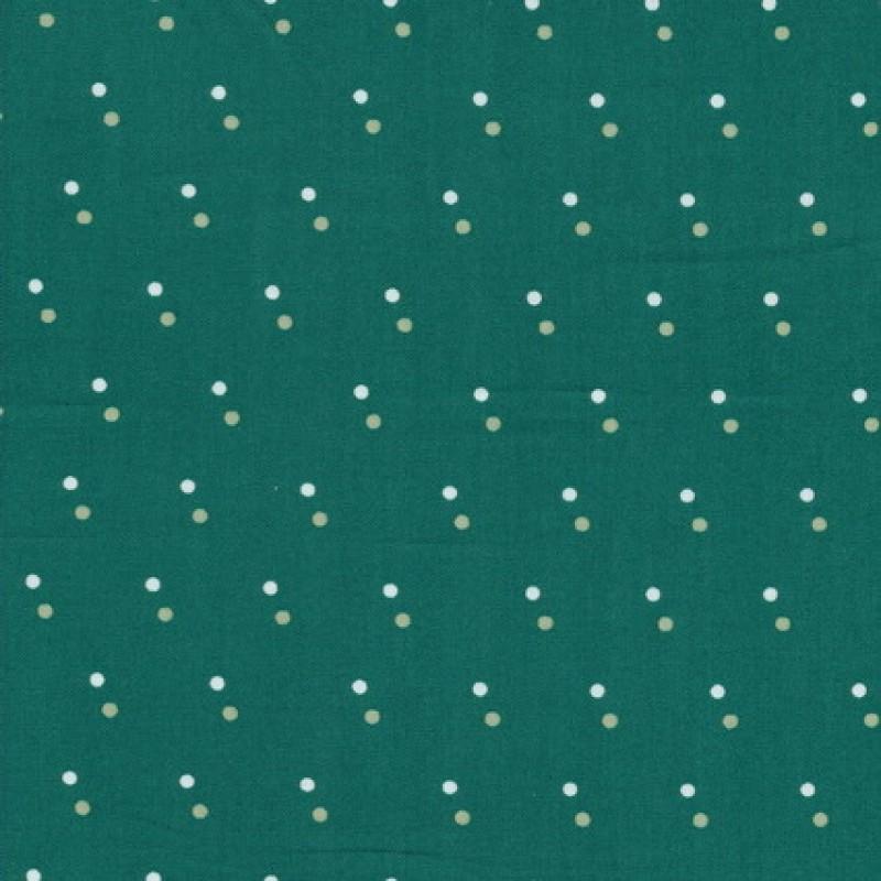 Rest Bomuld m/lille dobbel-prik, mørk irgrøn, 80 cm.-35