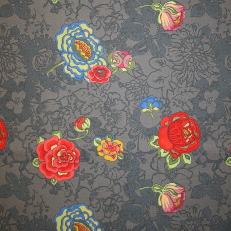Grå bomuld m/blomster-31