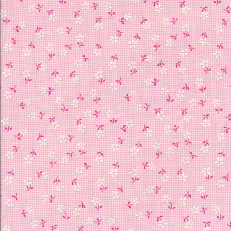 Rest Ternet bomuld/polyester m/blomster, lyserød, 80 cm.-33