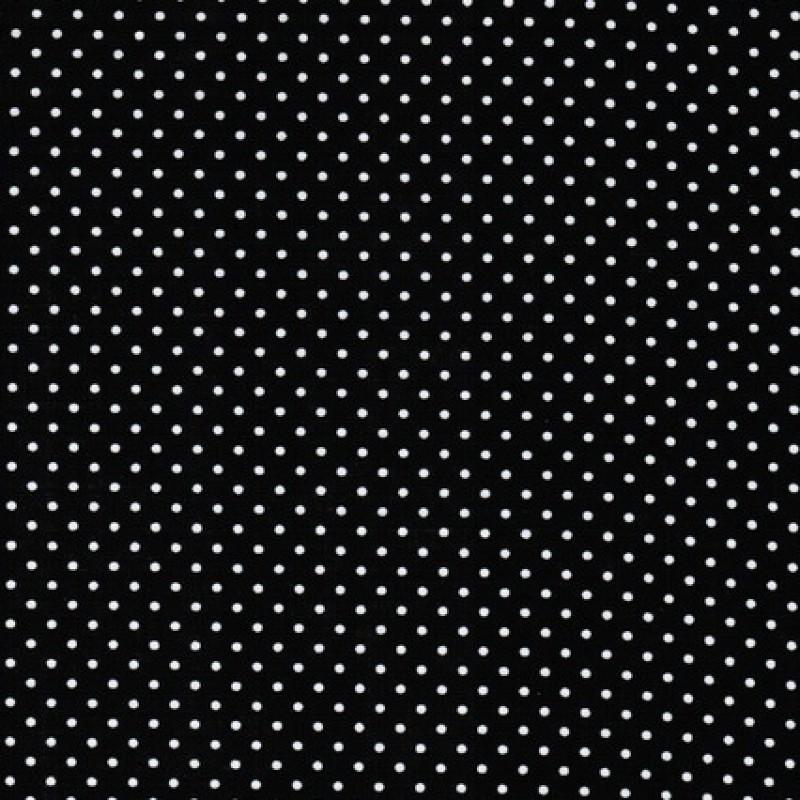 Bomuld m/hvide små prikker, sort-31