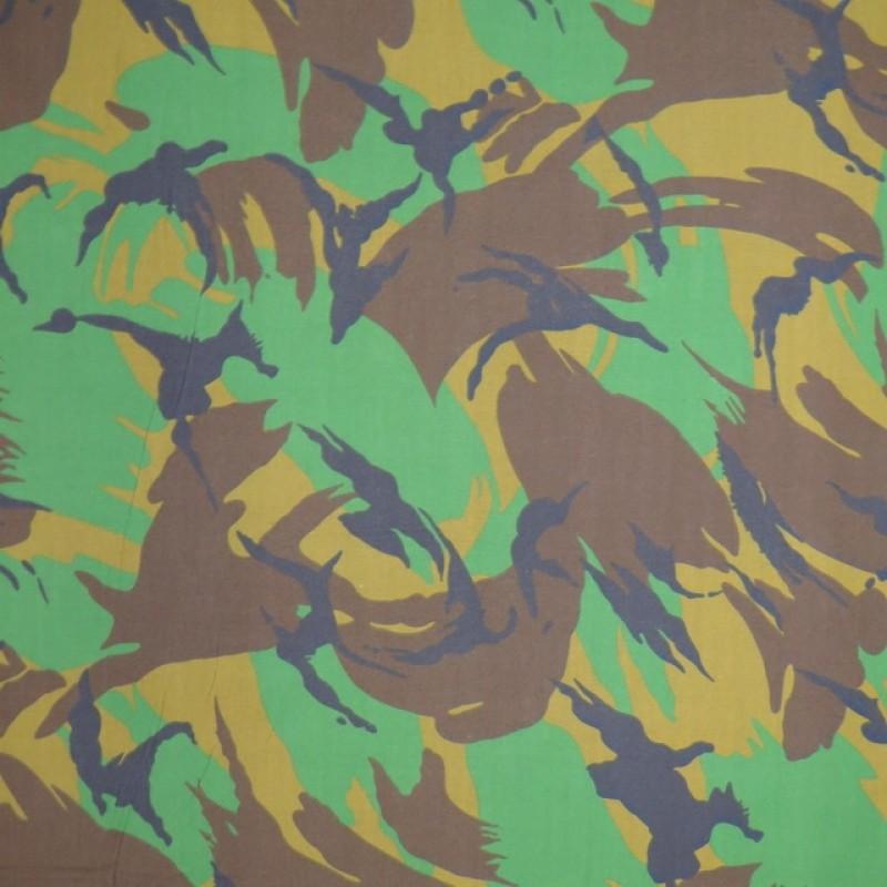100% Bomuld camouflage grøn brun sort-36