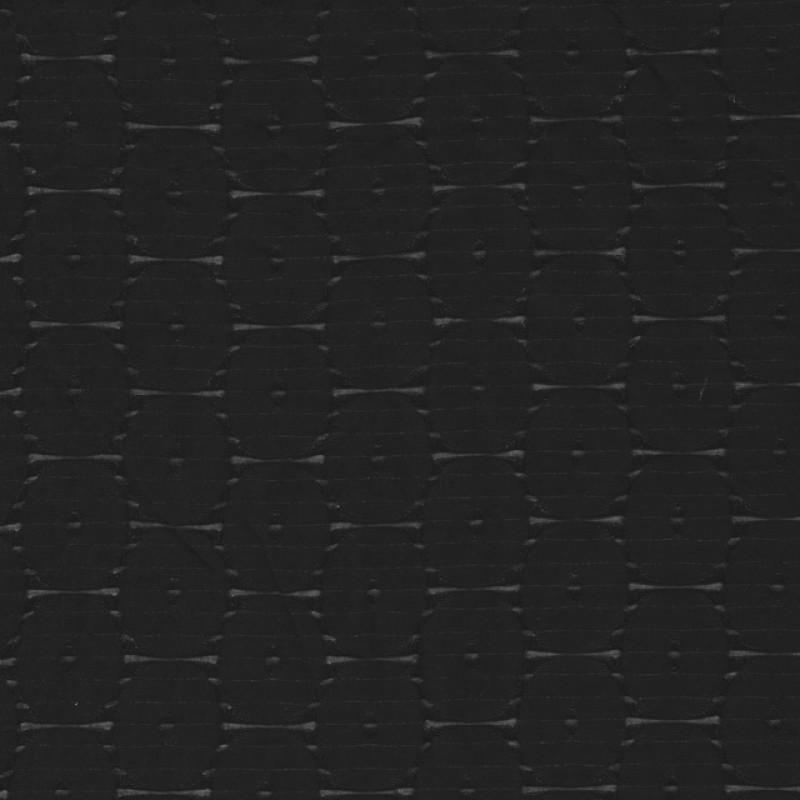 Bomuld/polyester sort med cube-mønster