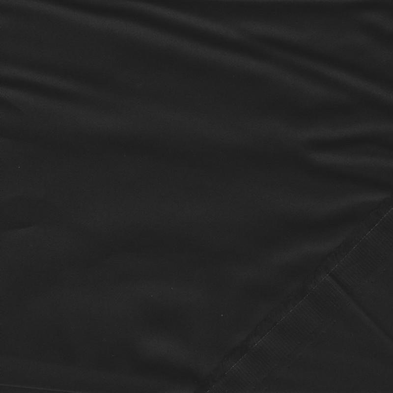 Fastvævet bomuldssatin i sort-36
