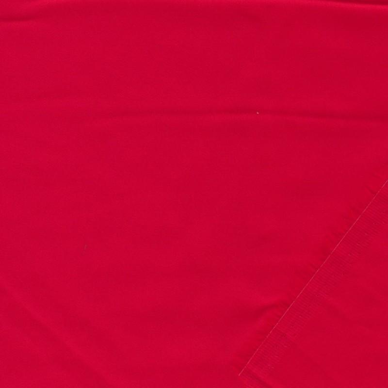 Fastvævet bomuldssatin i rød-37