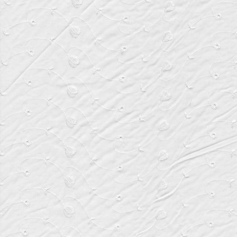 Broderi anglaise hvid m/mat broderi med hjerte-36