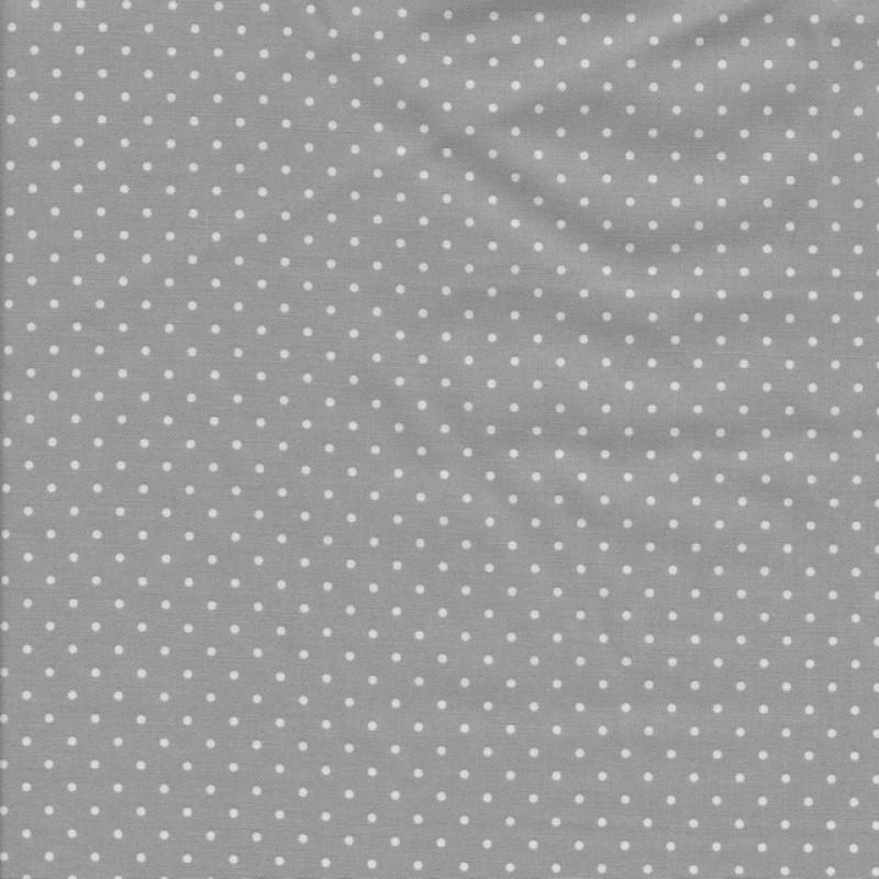 Bomuld med små prikker i lysegrå og hvid-36