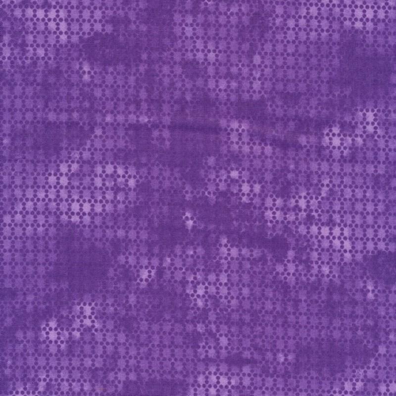 Bomuld batik med prikker i lilla og lys lilla-316