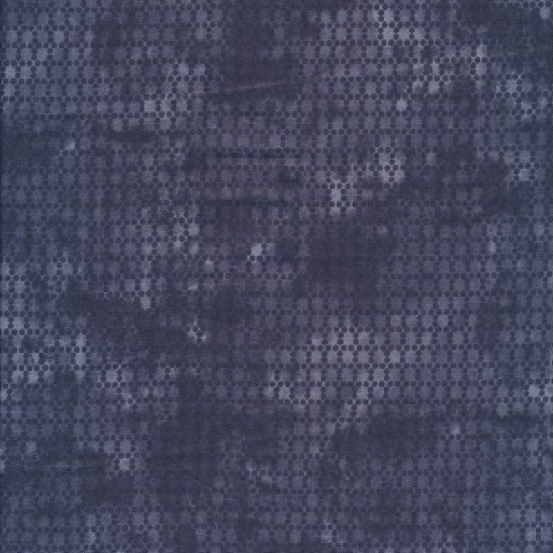 Bomuld batik med prikker i koksgrå og grå-317