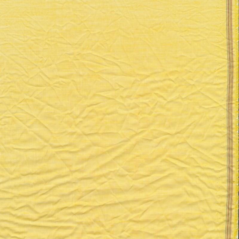 Let krøllet bomulds-voil meleret i lys gul-38