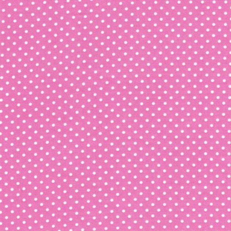 Bomuld m/hvide små prikker, lyserød-31