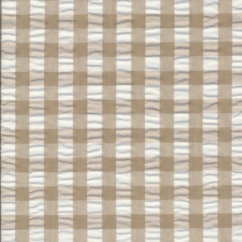 Rest Bomuld polyester med tern beige hvid 44 cm.