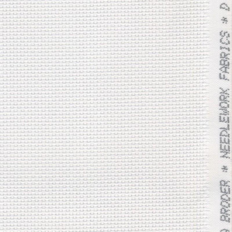 Aida broderistof, hvid 5,5 trådet-33