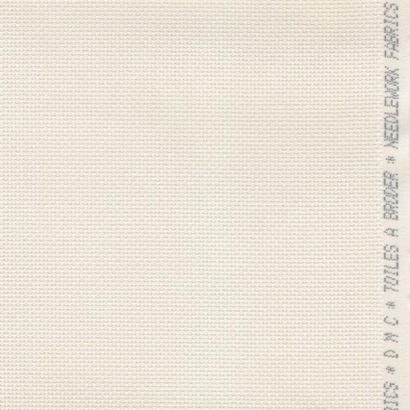 Afklip Aida broderistof, off-white 5,5 trådet 50x55 cm.