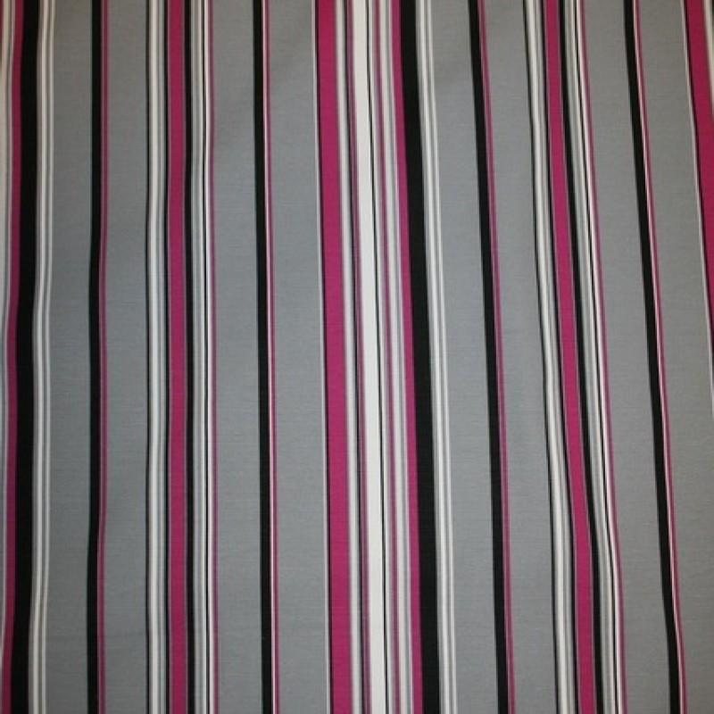 Kraftig stribet bomuld, grå/pink-33