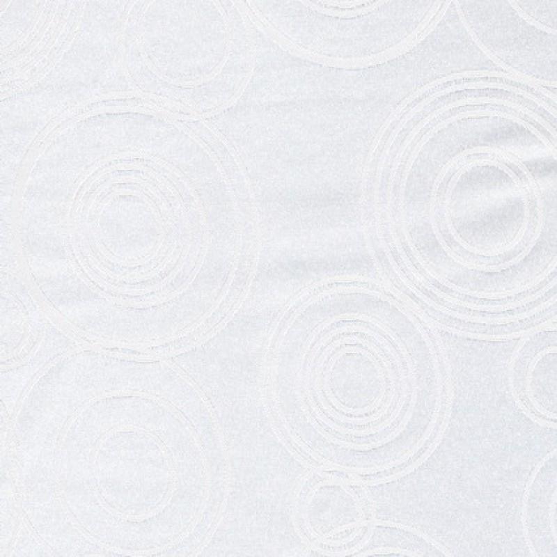 Rest Dug-stof jacquard m/cirkler, hvid 70 cm.