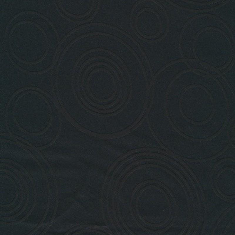 Dug-stof jacquard m/cirkler, sort
