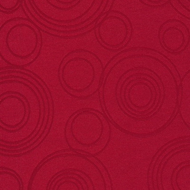 Dug-stof jacquard m/cirkler, rød