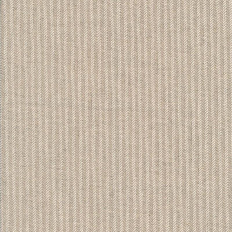 Kraftig bomuld/polyester i stribet sildeben i off-white og sand