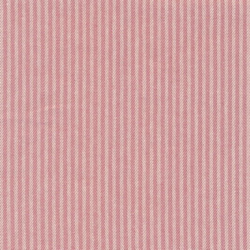 Kraftig bomuld/polyester i stribet sildeben i off-white og rosa
