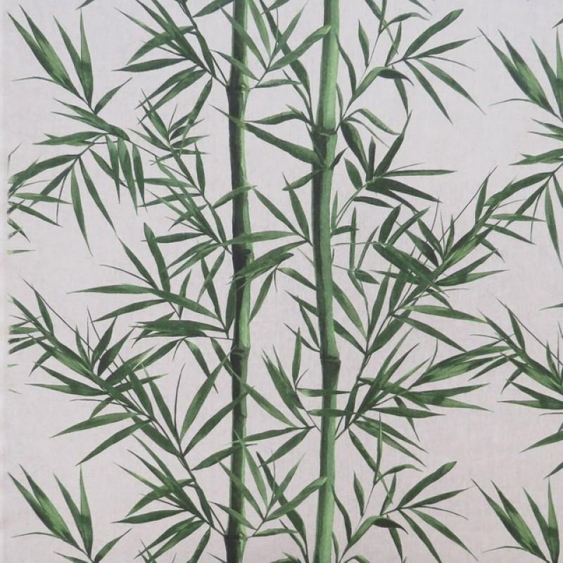 Hør-look med bambus rør og blade-38
