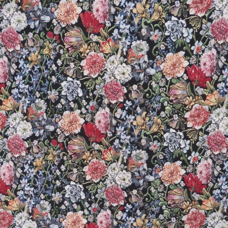Gobelin sort med blomster-38