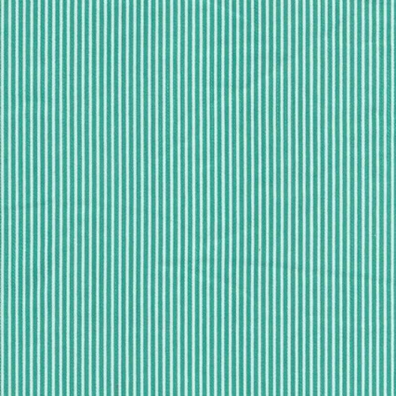 Stribet bomuld polyester m/stræk, grøn/hvid-35