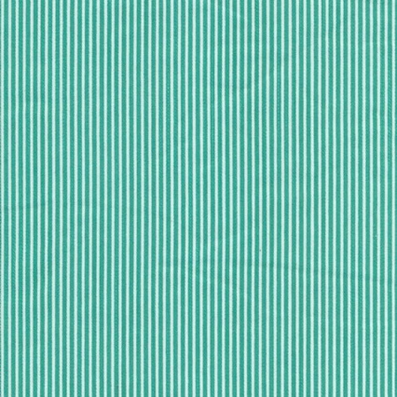 Stribet bomuld polyester m/stræk, grøn/hvid