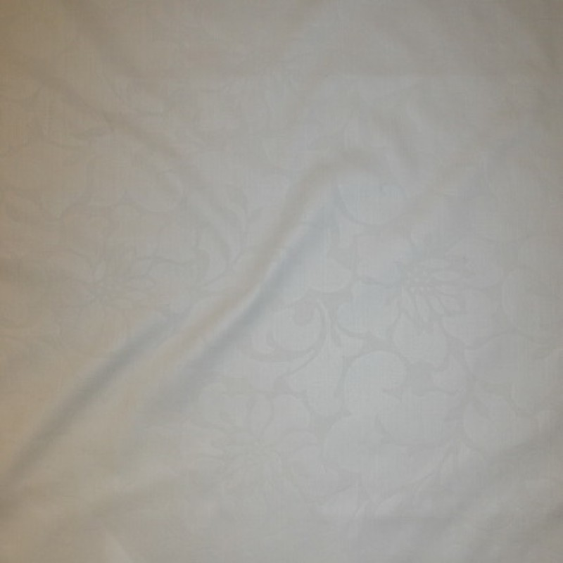 rest Knækket hvid denim m/jacquard-blomster, 85 cm.-35
