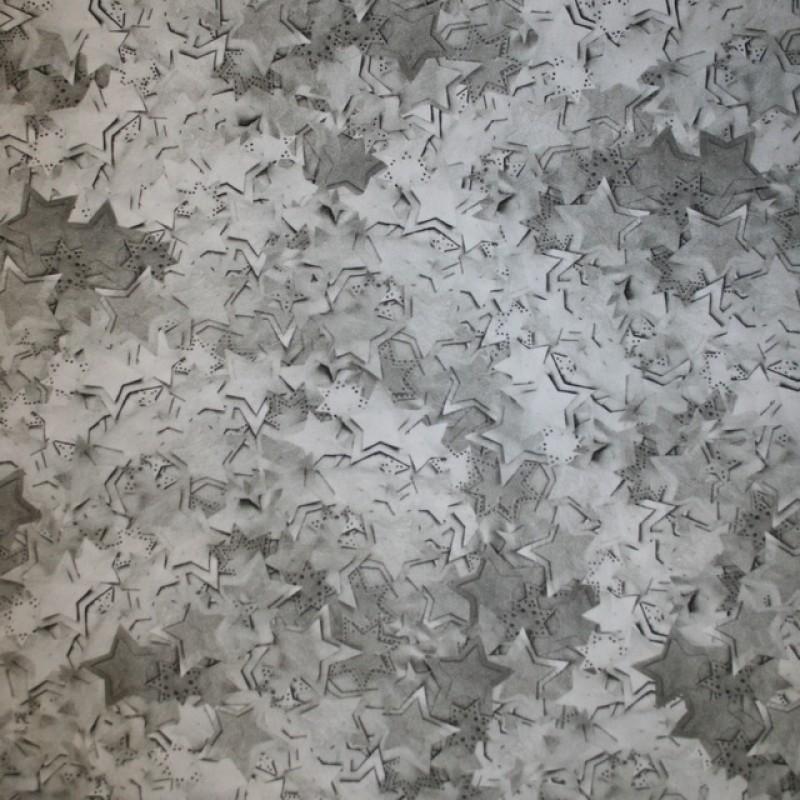 Rest Cowboy med stræk digital print stjerne-mønster kit grå-grøn, 80 cm.-314