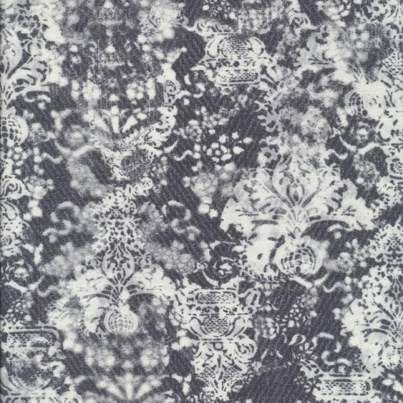 Bengalin med print i koksgrå og hvid-37