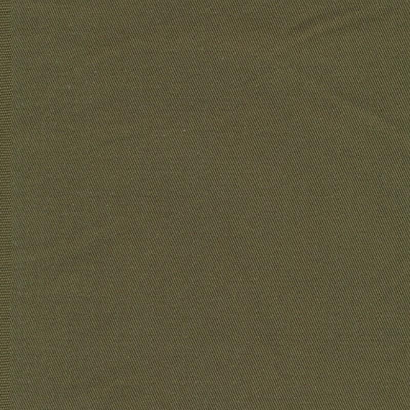 Twillvævet bomuld/denim med stræk i army-313