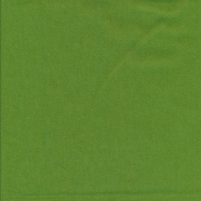 Twillvævet bomuld med stræk i æblegrøn-313
