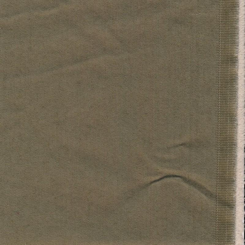 Twillvævet bomuld med stræk i lys oliven-brun