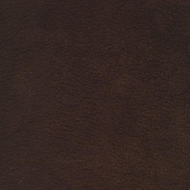 Fleece i mørkebrun - chokoladebrun
