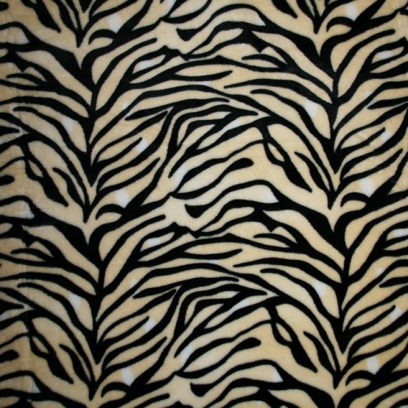 Fleece med tigerstriber, creme, sort, hvid-33