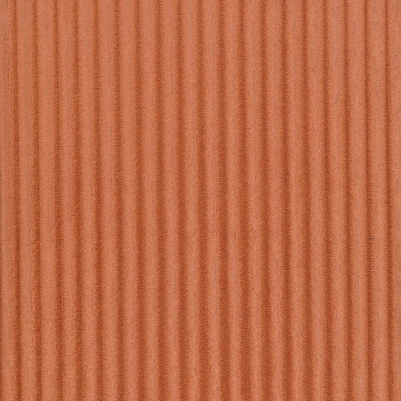 Fleece med striber-riller i støvet orange