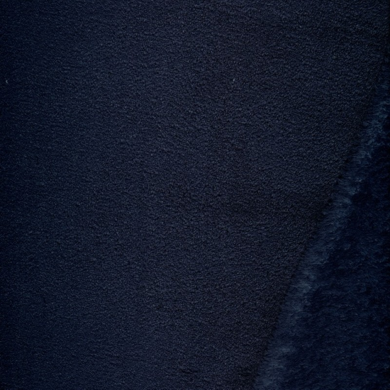 Wellness - Frotté fleece i mørkeblå