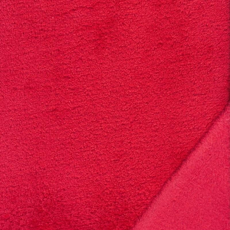 Wellness - Frotté fleece i rød