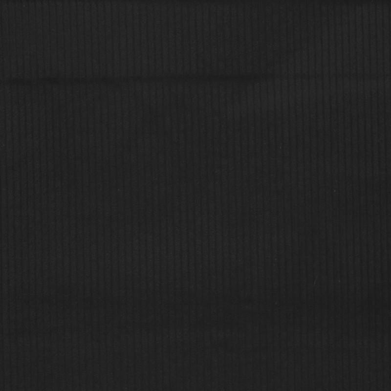 Rest Bredriflet fløjl med stræk i sort, 65 cm.-32
