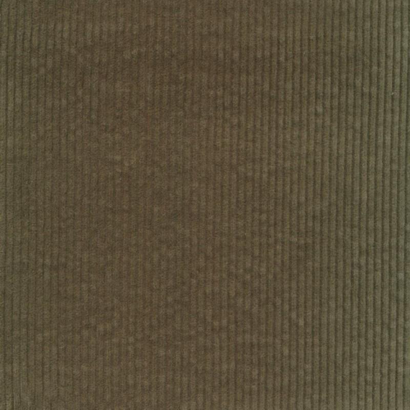 Bredriflet fløjl med stræk i støvet grøn-34