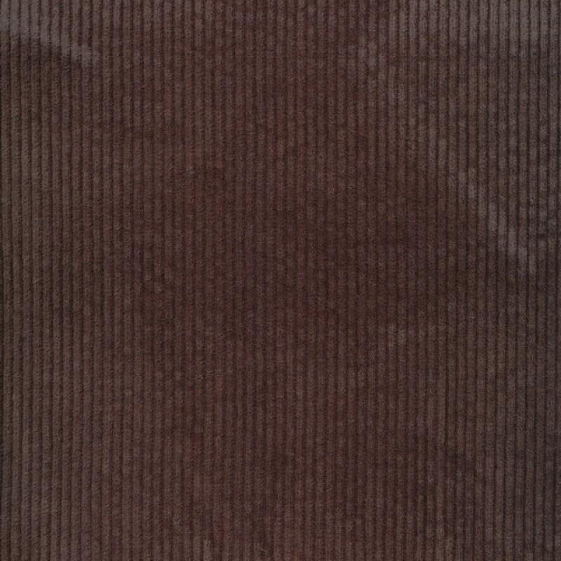 Bredriflet fløjl med stræk i brun