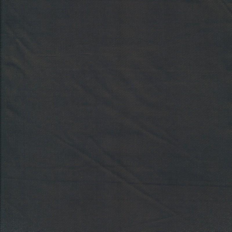 Acetat foer twill-vævet, mørkebrun/sort
