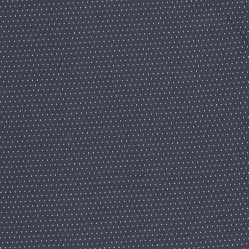 Viskose foer med i støvet blå med vævet sølvgrå prik-36