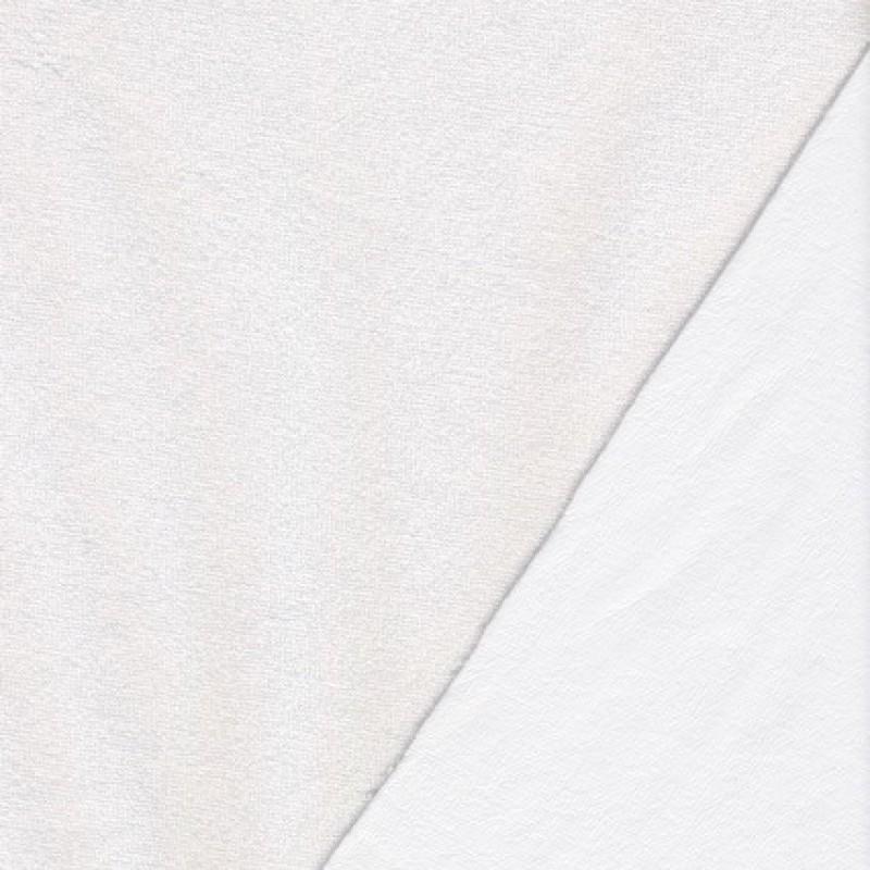 Hvid frotté gummi bagside, almindelig-35