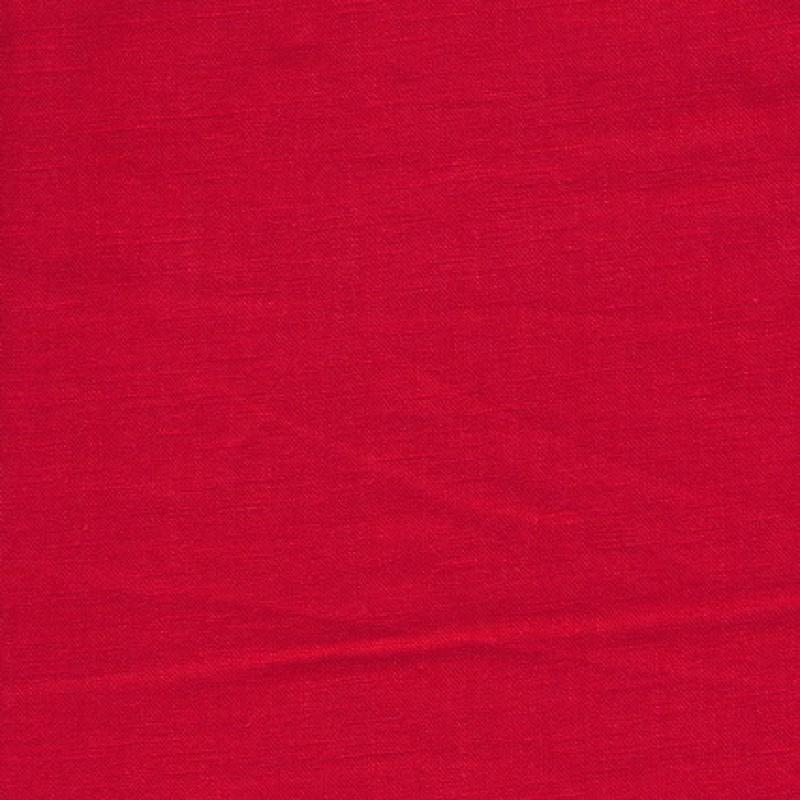 100% vasket ramie-hør i rød-35