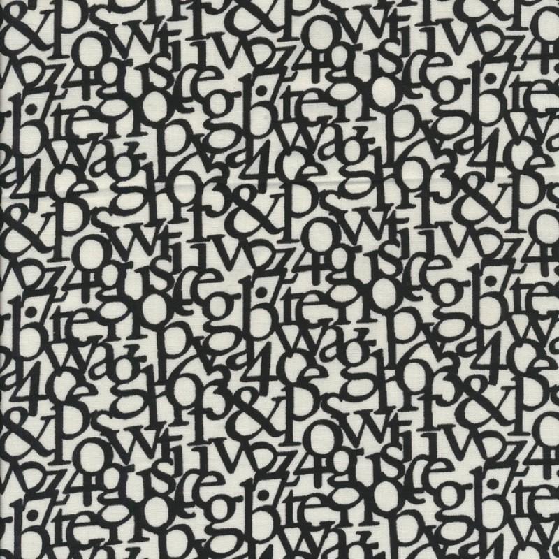 Hør hvid sort med bogstaver-35