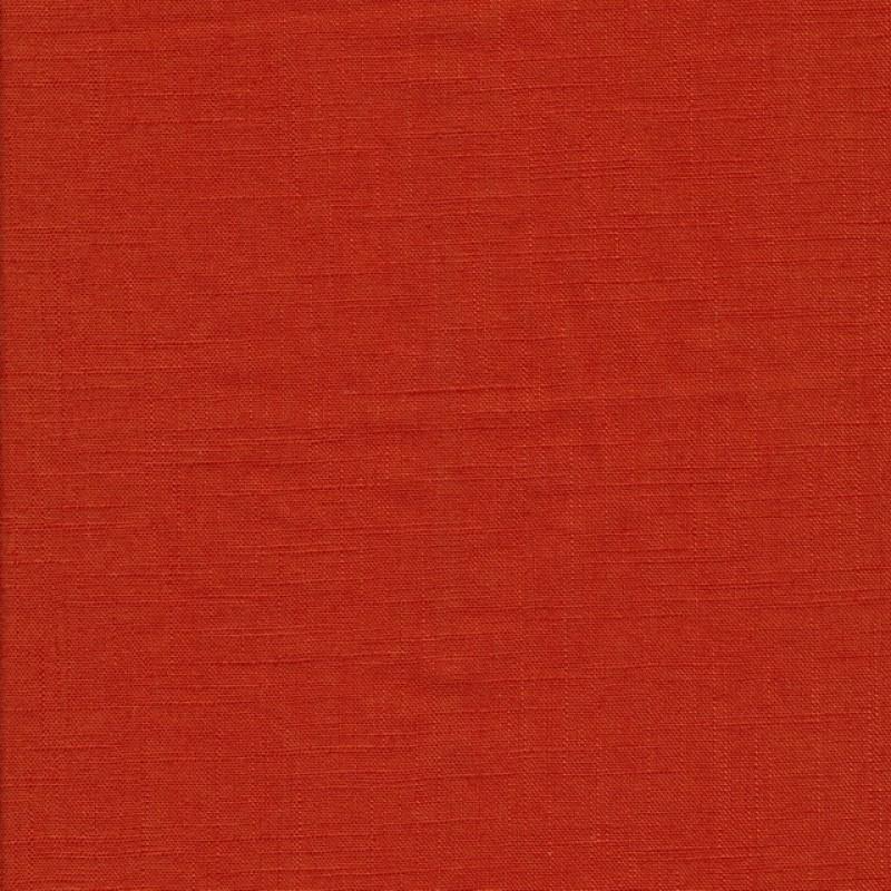 100% vasket ramie-hør i lys brændt orange-310